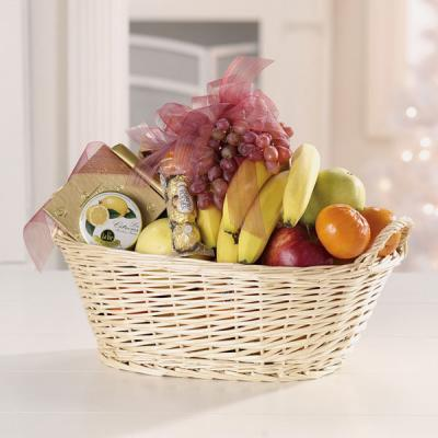 114-11 Fruit and Gourmet Basket